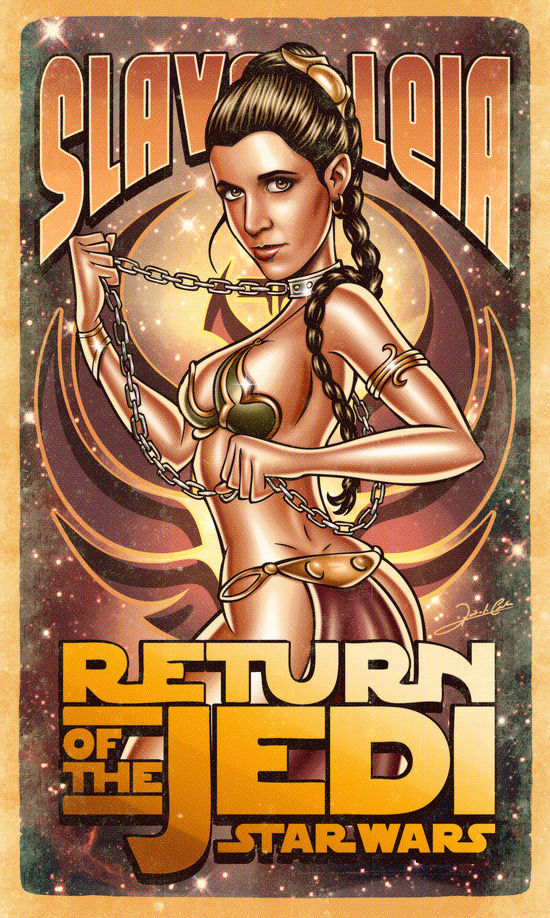 princess leia slave leia star wars return of the jedi images pics illustrations hot