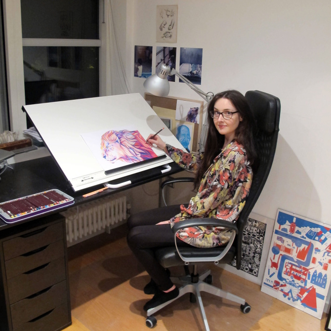 Studio BEARWEB fox_claudine-osullivan unreal pencil drawings top colouring pencil illustrations englands top illustrators cool art part 2 addictedtoeverything
