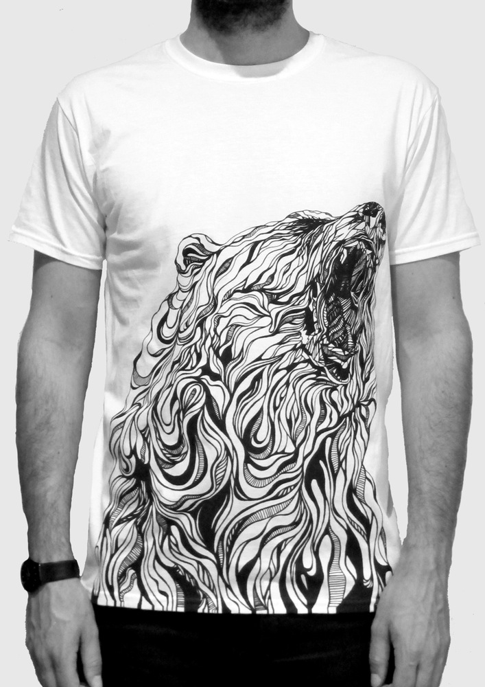tee artistic tshirt BEARWEB fox_claudine-osullivan unreal pencil drawings top colouring pencil illustrations englands top illustrators cool art part 2 addictedtoeverything