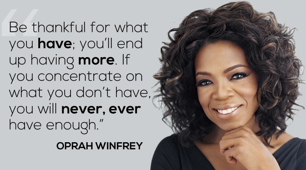 oprah-winfrey-thankful-quote be grateful to be the person you are meant to be aim for the best goals visions law of attraction addictedtoeverything