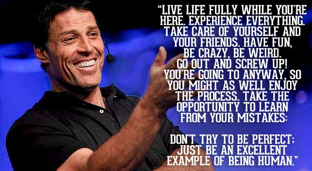tony robbins-thankful-quote be grateful to be the person you are meant to be aim for the best goals visions law of attraction addictedtoeverything be the best you can be
