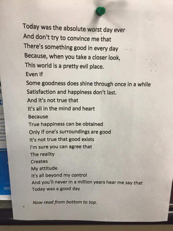 poem on attitude gratitude read backwards addictedtoeverything