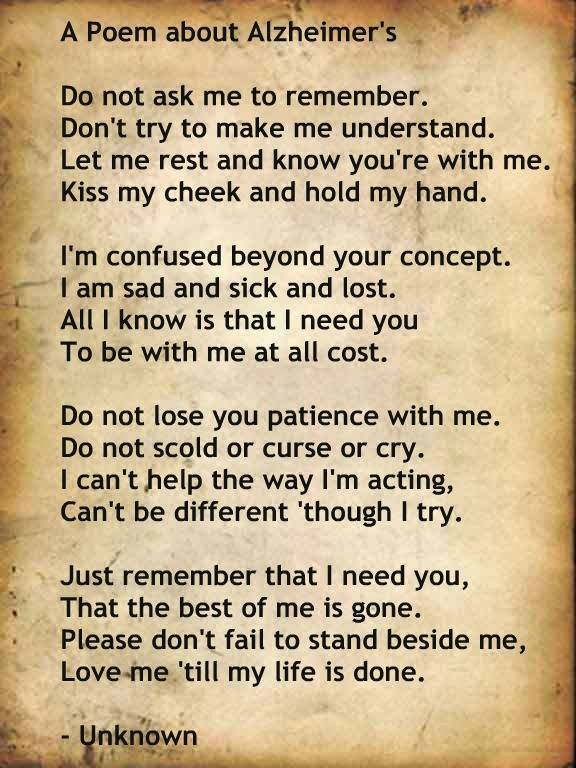 Poem on Alzheimers