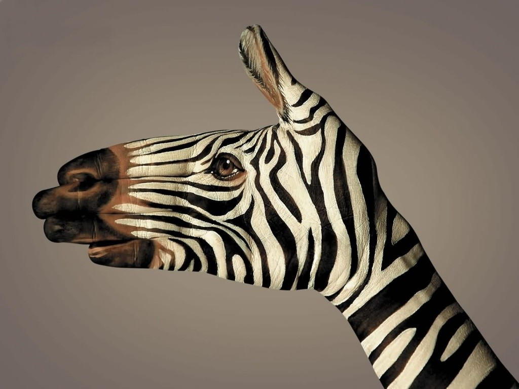 body-painting-animals-7-wide-wallpaper zebra on hands body cool bodypainting learn how to bodypaint