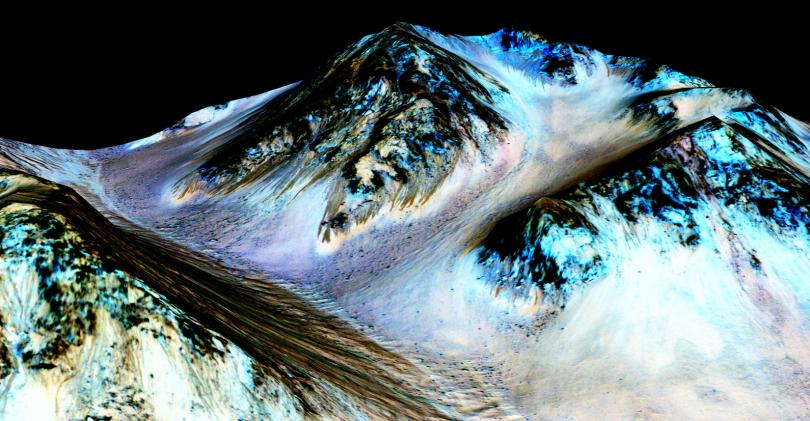 water-mars images discovery of water on mars planets 2015 best bits