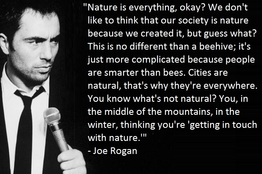 joe rogan on being nice to people quotes on life nature