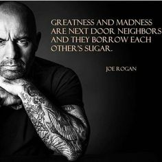 joe rogan quotes on life greatness and madness quote joe rogan ufc mma presenter podcast funny love wife children