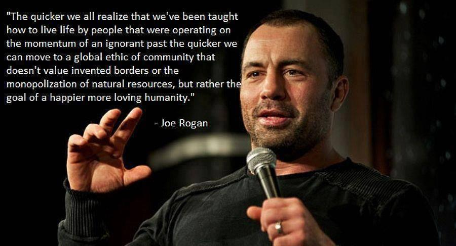 joe rogan quotes on life guns mental health tyranny ufc mma presenter podcast funny love wife making sense