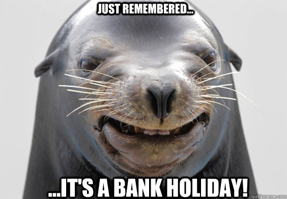seal funny face bank holiday meme